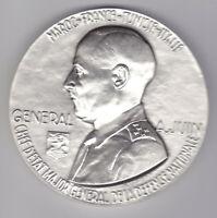 XL WWII Art Deco Slvered Bronze Marshall Juin,  M. Delannoy
