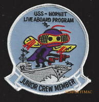 USS HORNET CVA-12 LIVE ABOARD PATCH CV CVS US NAVY MARINES PIN UP NAS ALAMEDA
