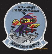 USS HORNET CVA-12 LIVE ABOARD PATCH CV CVS US NAVY MARINES PIN UP NAS ALAMEDA
