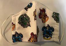 Handmade face masks - Harry Potter House Logos Print