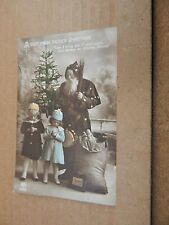 Postcard A visit From Father Christmas posted stamp removed xc2