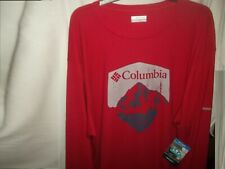 Columbia Sportswear Thermal Red Omni Wick Crew 11 Sz. 3Xl/3Tl / New With Tags