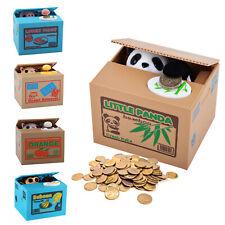 Novelty Panda Stealing Coin Money Cat Panda Penny Cents Piggy Bank Saving Box UK