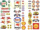 Gas  Oil water-slide decals 1:64, 1:32, 1:24 scale model car