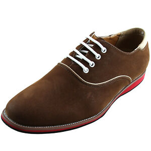 New men's shoes fashion lace up style oxfords synthetic leather Brown