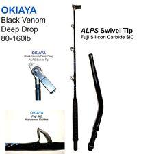 OKIAYA Black Venom Deep Drop Bent Butt ALPS RX SWIVEL TIP FUJI SIC GUIDES