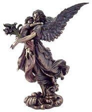 Guardian Angel Holding Baby Child Statue Figure Cherub Christian Figurine #1711