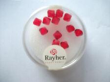 Rayher Swarovski Kristall-Schliffperlen 12 Stück 6 mm klassikrot Bastelperlen