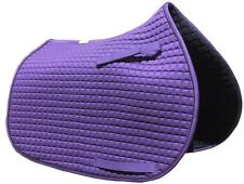 Purple All-Purpose English Saddle Pad with Black Piping |  by PRI Pacific Rim