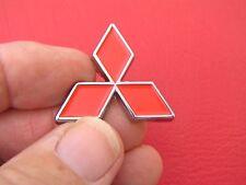 """MITSUBISHI SMALL RED METAL DIAMOND 35mm BADGE 1 3/8"""" Emblem ~ Lancer"""
