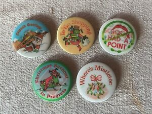 Christmas Santa Claus Lenticular Multi Image Pin Collection of Five Different