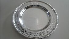 INTERNATIONAL SILVER COMPANY FILIGREE PIERCED SILVERPLATED 10 1/4 INCH DISH