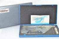 NEW Fowler 3-4'' Outside Micrometer, .0001'' Storage Case