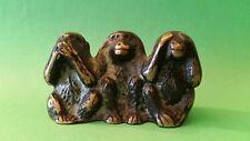 Drei Affen aus Bronze. 3,5 cm hoch.