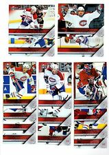 1X MONTREAL CANADIENS 2005 06 Upper Deck FULL TEAM SET Series 1 & 2 Lots Availab