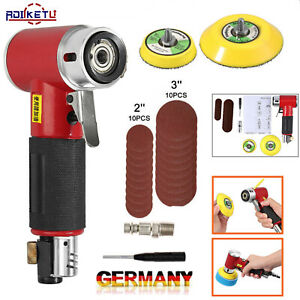 Druckluft Exzenterschleifer Mini Poliermaschine 50/75mm Auto Polierer Set DE