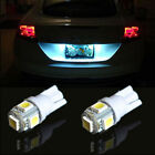2X White Car Side Wedge Tail Light Lamp 10X T10 5050 W5W 5 SMD 194 Car Bulb LED