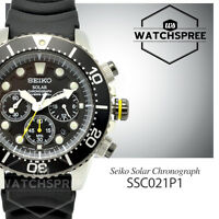 Seiko Men Chronograph Diver Solar Watch SSC021P1