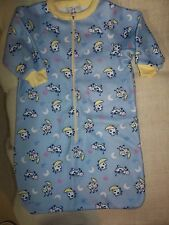 """""""CONFETTI KIDS"""" Infant/Baby Sleeper, Size 6-9 mos., Blue with Cows Over the Moon"""