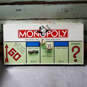 VINTAGE 1985 Monopoly Board Game Plastic Movers COMPLETE
