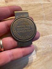 Western Brothel Money Clip Solid Metal Brass Finish Patina Wyatt Earp Mattie NR