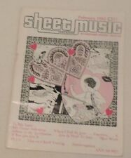 Sheet Music Magazine (Published February 1982) Music for Standard Piano & Guitar