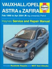 Vauxhall / Opel Astra & Zafira, February 1998 to April 2004 (R registration on,
