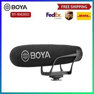 BOYA BY-BM2021 Shotgun Microphone Super-Cardioid Video Recording for Camera DSLR