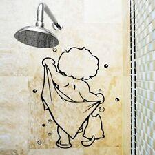 Glass Door Shower Stickers Bathroom Decal Wall Waterproof Removable Decor Decals