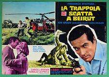 T67 FOTOBUSTA LA TRAPPOLA SCATTA A BEIRUT FREDERICK STAFFORD HELICOPTER
