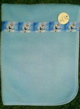 Dolls Blue Fleece Blanket with Olaf Frozen Ribbon Detail ~Ideal for dolls