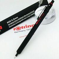 rOtring 600 0.5mm Pencil Full Matal Black Hexagon Body Mechanical [NEW] Pen