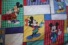 Mickey Mouse Mr Cool Twin Flat Bed Sheet Or Material Crafting Fabric Sheet