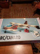 VINTAGE Mystere 3000 CANARD ARF Balsa Wood RC Airplane Kit WS 59.5 NOS