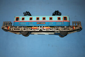 Tin Lithographed Electric Locomotive Friction Train EF2155A. Made in Japan. Work