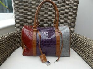 Russell & Bromley medium Multicoloured Patent Leather Bag - Used