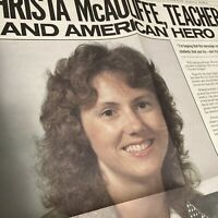 NASA Christa McAuliffe Teacher In Space Shuttle Challenger SCHOLASTIC Poster