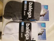 Balega Unisex Hidden Comfort Running Socks in White Grey Size Large 2 pair