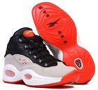 New Men's REEBOK PUMP QUESTION - M44090 Allen Iverson Black White Orange Sneaker