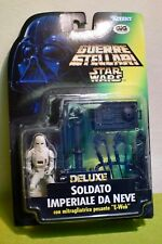 STAR WARS CARDED POWER OF THE FORCE DELUXE SNOWTROOPER w/ E-WEB HEAVY BLASTER