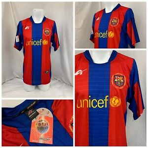FC Barcelona Jersey L Blue Red Unicef Agmar Official Soccer NWT YGI R1-610