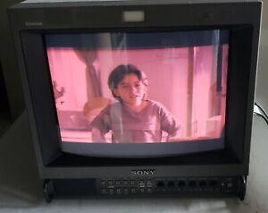 "Sony Trinitron PVM-14M2U 14"" Color Retro Gaming Video CRT 14"""