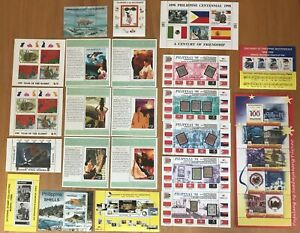 PHILIPPINES - 22 different SOUVENIR SHEETS - perfect condition - MNH/**