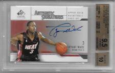 Autograph Upper Deck Dwyane Wade 9.5 Basketball Cards