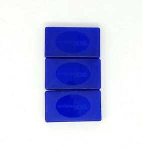 Nintendo DS Game Cartridge Case - Holds 4 Games, Lot of 3 Blue