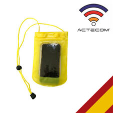 FUNDA WATERPROOF AMARILLA RESISTE AGUA SMARTPHONE MOVIL MP3 PISCINA SUMERGIBLE