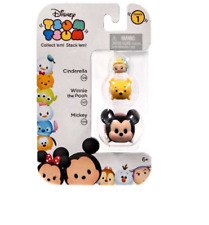 NIP~Disney TSUM TSUM Cinderella-Winnie the Pooh-Mickey Mouse Stack'em Series 1