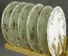 "6 Antique Royal Cauldon 5032 8-3/4"" Dessert Plates Davis Collamore & Co NY (HH)"