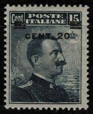 ITALIA REGNO 1916 Michetti 20c su 15c grigio nero MH*
