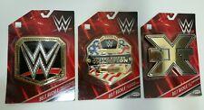 WWE Set of 3 Title Belt Buckles - World Heavyweight, US United States, NXT